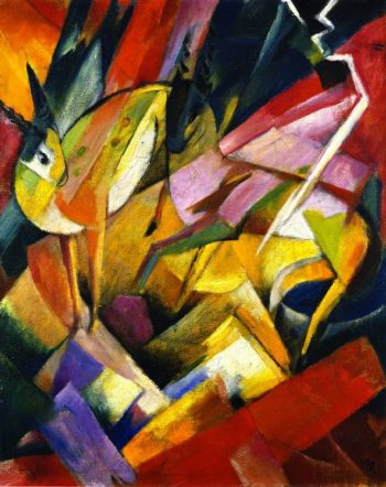 Mountain Goats | Franz Marc | oil painting