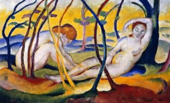 Nudes in the Open Air | Franz Marc | oil painting