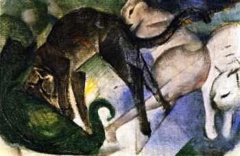 Playing Cats | Franz Marc | oil painting
