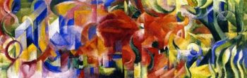 Playing Forms | Franz Marc | oil painting