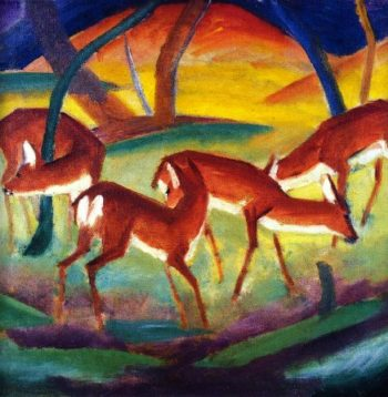 Red Deer I | Franz Marc | oil painting
