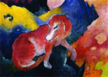 Red Dog | Franz Marc | oil painting