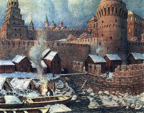 old mouth Neglinna 1924 | Apollinaris M Vasnetsov | oil painting