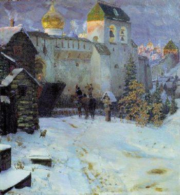 Old Russian Cities   Apollinaris M Vasnetsov   oil painting