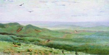 Orenburg steppe 1893   Apollinaris M Vasnetsov   oil painting