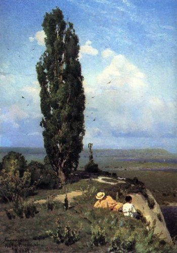 poplar 1887   Apollinaris M Vasnetsov   oil painting