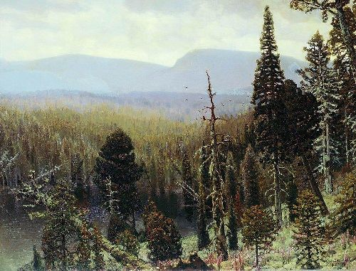 Taiga in the Urals Blue Mountain 1891 | Apollinaris M Vasnetsov | oil painting