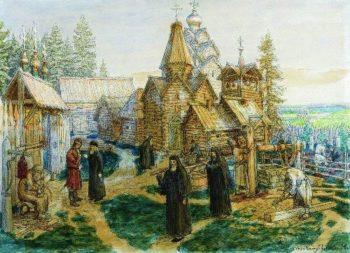 Trinity Sergius Lavra 1908 1913 | Apollinaris M Vasnetsov | oil painting