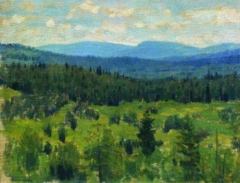 Ural landscape 1890 1891 | Apollinaris M Vasnetsov | oil painting
