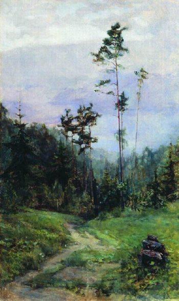 Ural landscape 1930 | Apollinaris M Vasnetsov | oil painting