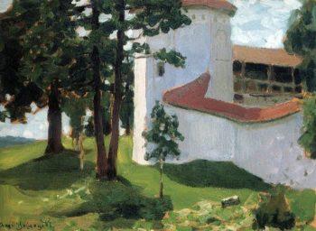 Valdai Monastery 1901 | Apollinaris M Vasnetsov | oil painting