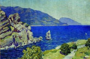 View from the swallows nest Crimea 1924 | Apollinaris M Vasnetsov | oil painting