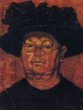 Aunt with glasses | Jozsef Rippl Ronai | oil painting