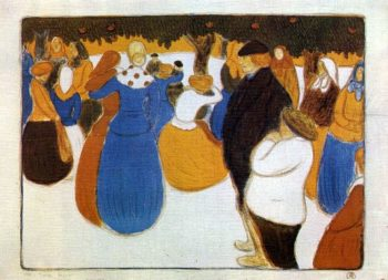 Breton folk festival | Jozsef Rippl Ronai | oil painting