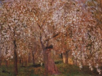 Cherry tree blooms | Jozsef Rippl Ronai | oil painting