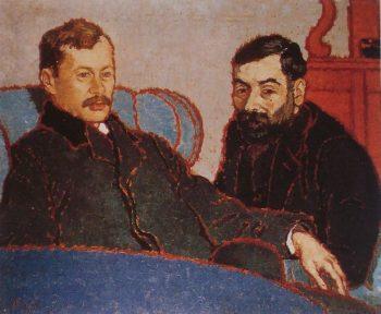 Elek Petrovics and Simon Meller | Jozsef Rippl Ronai | oil painting