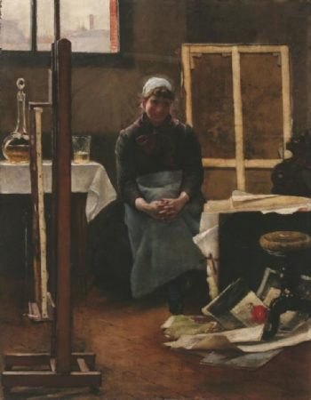 In the Studio | Jozsef Rippl Ronai | oil painting