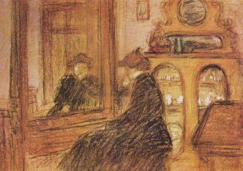 Lazarine before the Mirror | Jozsef Rippl Ronai | oil painting