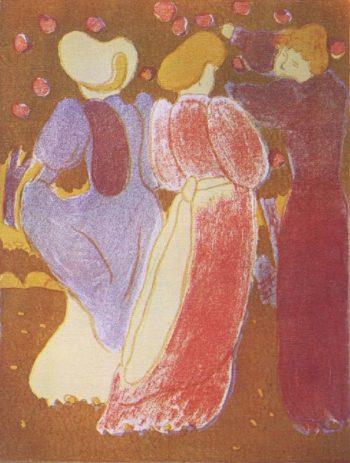 Les Vierges | Jozsef Rippl Ronai | oil painting