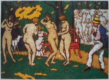 Nude Models | Jozsef Rippl Ronai | oil painting
