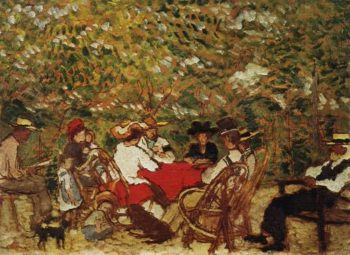 Uncle Piacsek and the Artist's Family in the Vineyard | Jozsef Rippl Ronai | oil painting