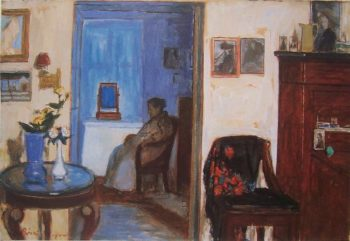 When One Lives on Memories | Jozsef Rippl Ronai | oil painting