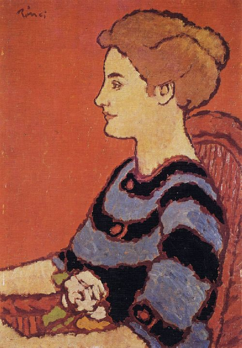 Woman in Blue Dress   Jozsef Rippl Ronai   oil painting