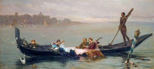 Venetian serenade | William A Kotarbinski | oil painting