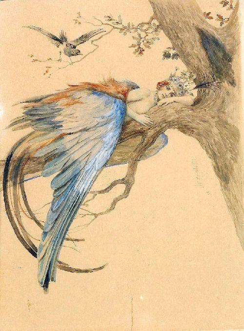 Blue Bird   Solomko Sergey Sergeyevich   oil painting