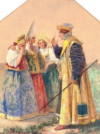 flirting Boyar | Solomko Sergey Sergeyevich | oil painting