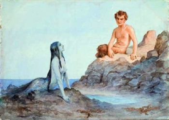 Mermaid and Faun the beginning of the twentieth century Corners | Solomko Sergey Sergeyevich | oil painting