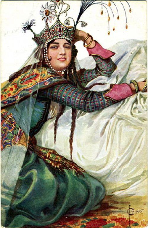 Queen Azvyakovna   Solomko Sergey Sergeyevich   oil painting