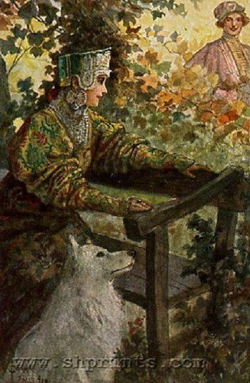 Waiting   Solomko Sergey Sergeyevich   oil painting