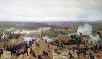 Capture of Grivitsky redoubt at Plevna 1885 Oil on canvas | Nikolay Dmitriev Orenburgsky | oil painting