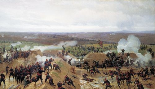 Capture of Grivitsky redoubt at Plevna 1885 Oil on canvas | Nikolay Dmitriev Orenburgsky | oil painting