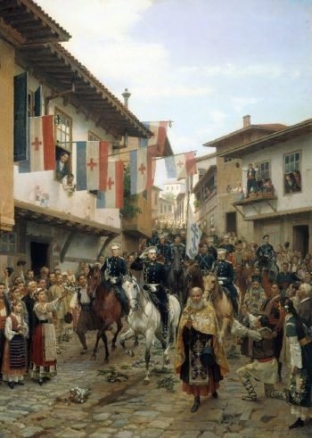 Entrance of Grand Duke Nikolai Nikolaevich to Tarnovo 30 June 1877 1885 | Nikolay Dmitriev Orenburgsky | oil painting