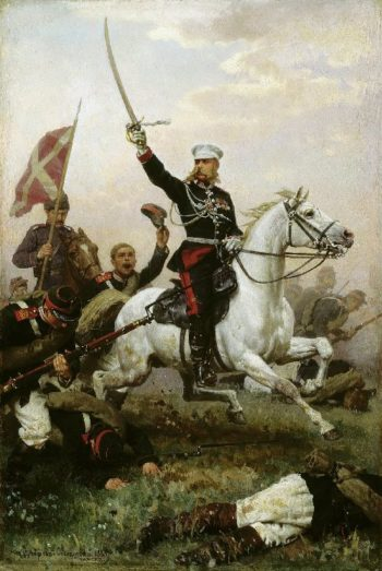 General Nikolai Skobelev on horseback 1883 Oil on canvas 47h30 | Nikolay Dmitriev Orenburgsky | oil painting