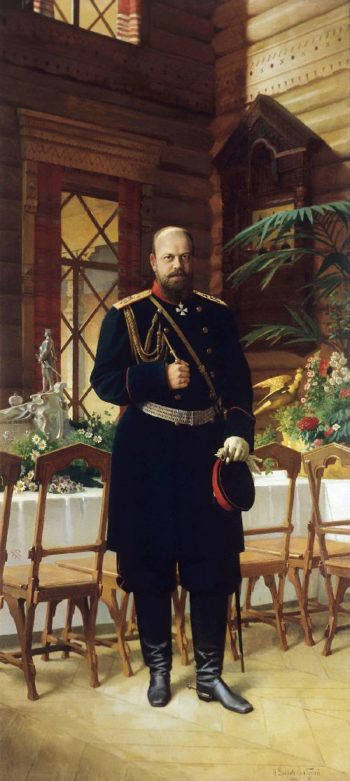 Portrait of Emperor Alexander III 1896 Oil on canvas | Nikolay Dmitriev Orenburgsky | oil painting