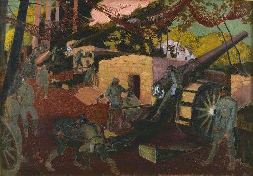 Batterie de 155 en foret de Coucy | Maurice Denis | oil painting