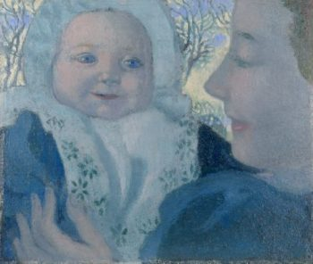 Bernadette and her mother | Maurice Denis | oil painting