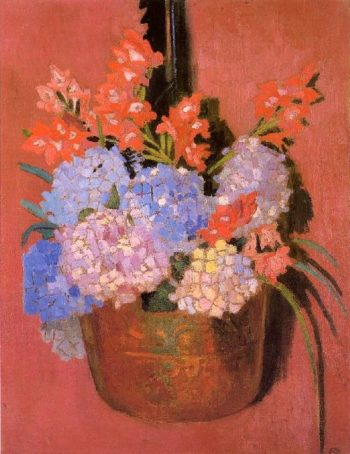 Chaudron aux hortensias | Maurice Denis | oil painting