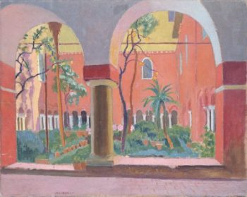 Cloister of St Laurence in Rome | Maurice Denis | oil painting