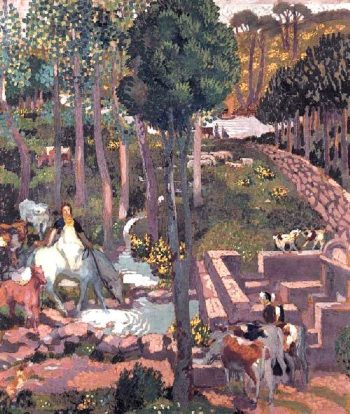 Gaulish God of Herds and Flocks | Maurice Denis | oil painting