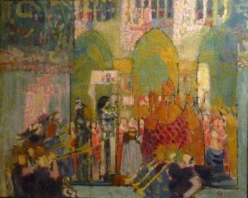 Jeanne d'Arc au sacre de Charles VII | Maurice Denis | oil painting