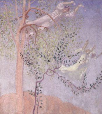 Jeunes filles et anges | Maurice Denis | oil painting