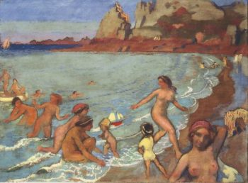 Jeux de Galatee a Trestrignel | Maurice Denis | oil painting