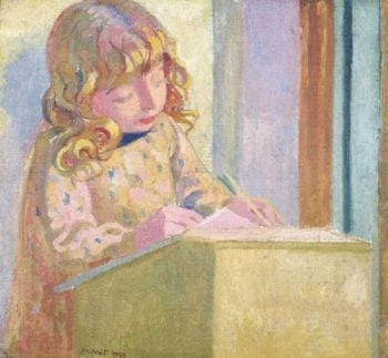 Little Boy Writing | Maurice Denis | oil painting