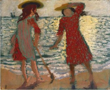 On the Beach | Maurice Denis | oil painting