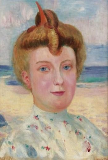 Portrait d'Une Demoiselle Roussi | Maurice Denis | oil painting