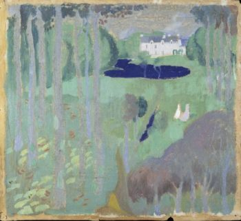 Residence with a Pond | Maurice Denis | oil painting
